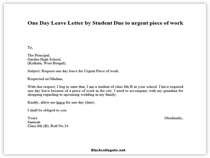 College Leave Letter 02