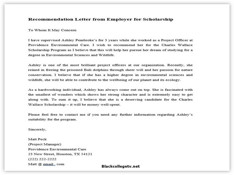 College Letter of Recommendation from Employer 02