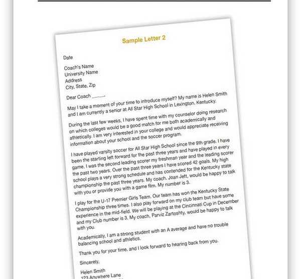 College Recruiting Letter 02