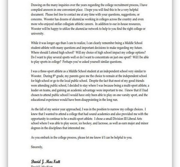 College Recruiting Letter 04