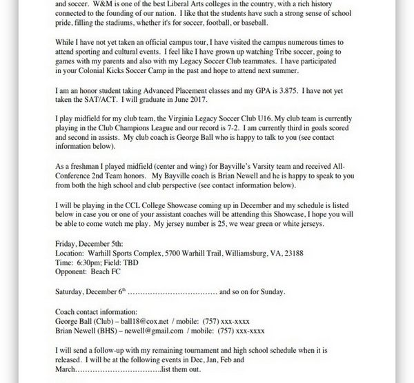 College Recruiting Letter 05