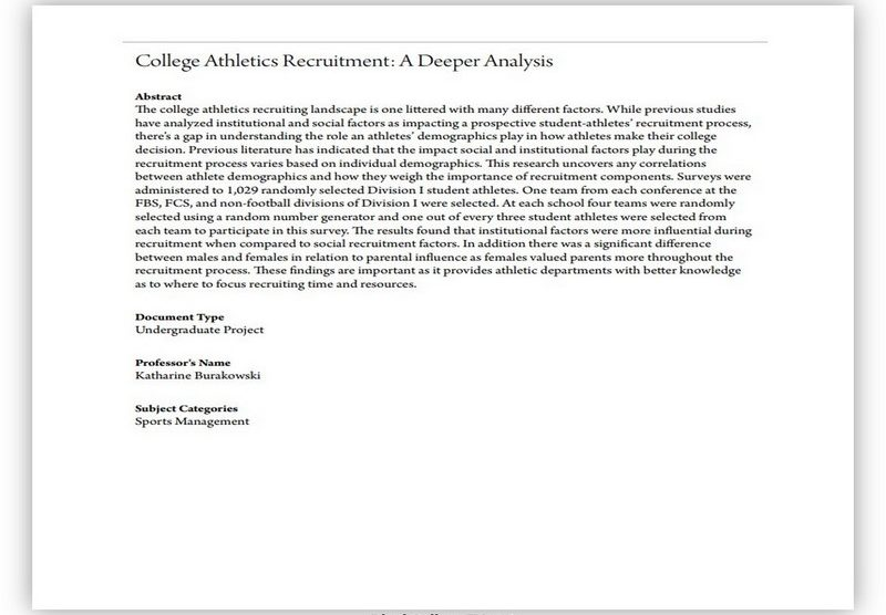 College Recruiting Letter 06