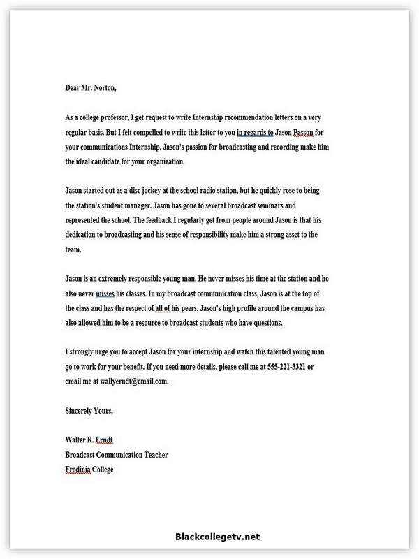 College Reference Letter 09