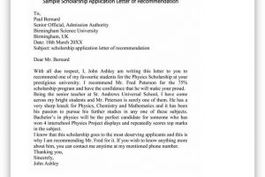 College Scholarship Letter of Recommendation 33