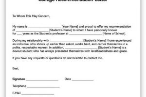 How To Write College Letter of Recommendation 01